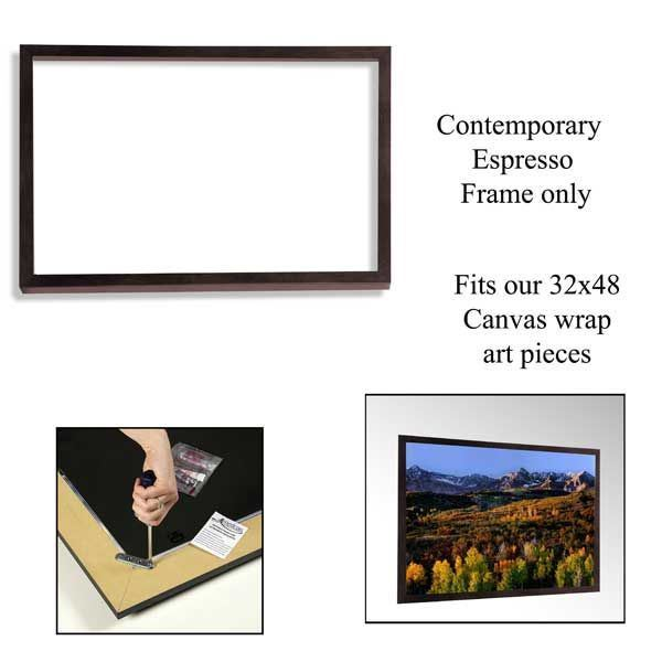 Picture of Contemporary Espresso Frame 48x32