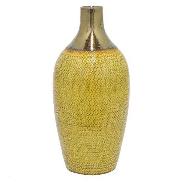 Picture of Yellow Gold Ceramic Vase