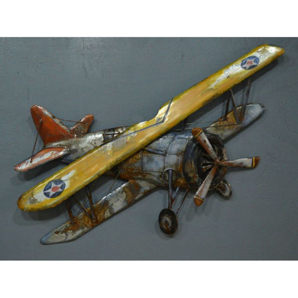 Picture of Yellow Metal Biplane