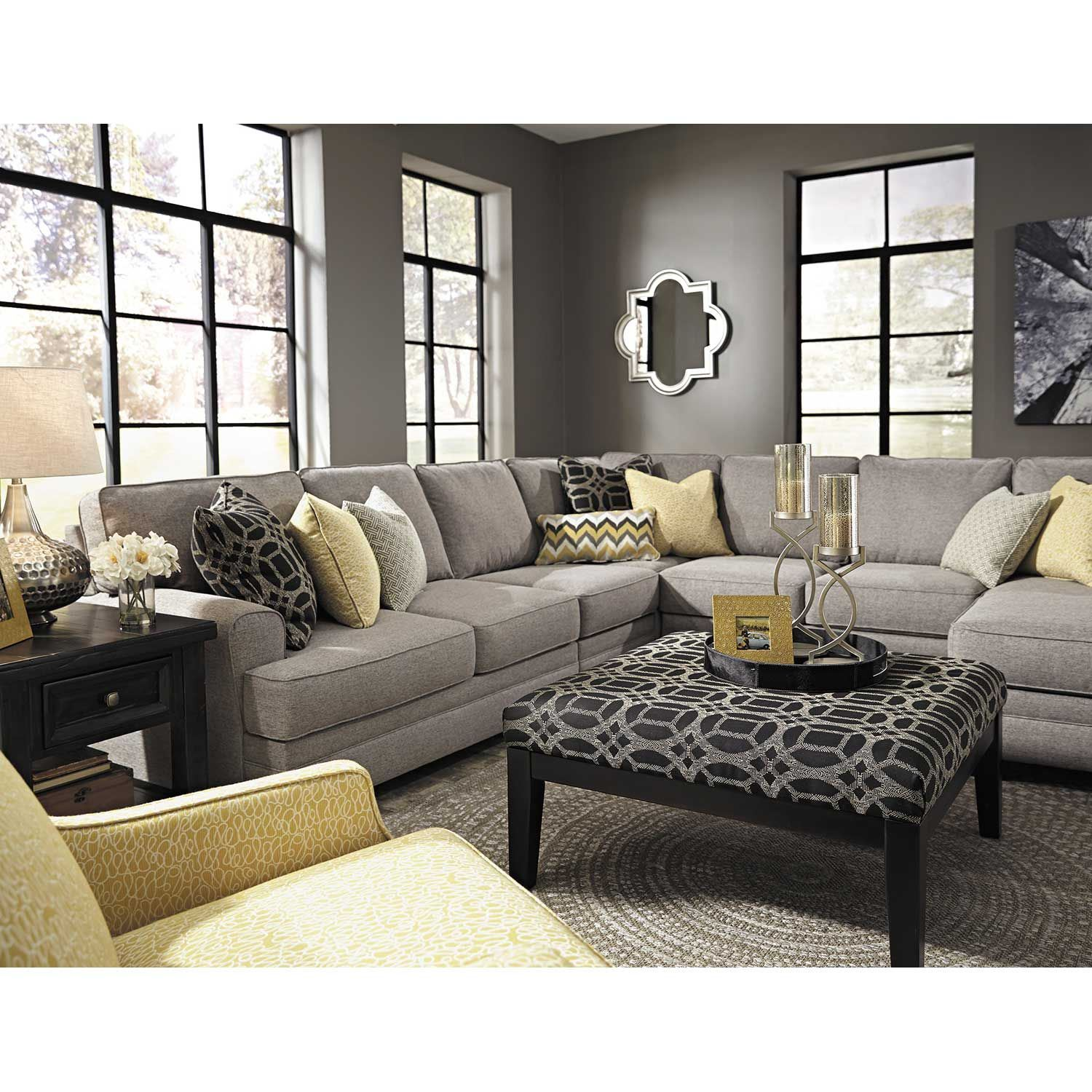 Picture of Cresson Yellow Accent Chair