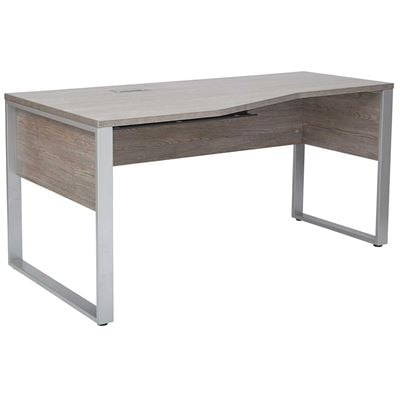 Picture of Manhattan Crescent Shape Desk, Grey