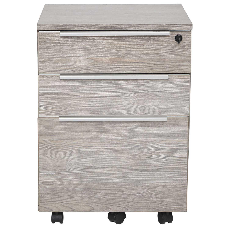 Picture of Manhattan 3 Drawer Mobile Pedestal, Grey