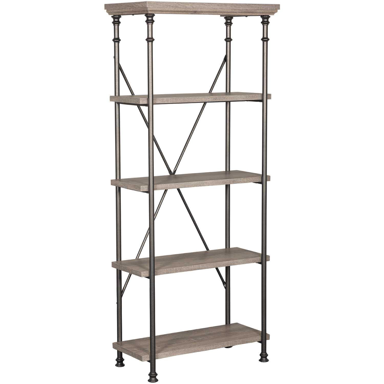 Canal Street Five Shelf Bookcase 419228 Sauder Woodworking Afw