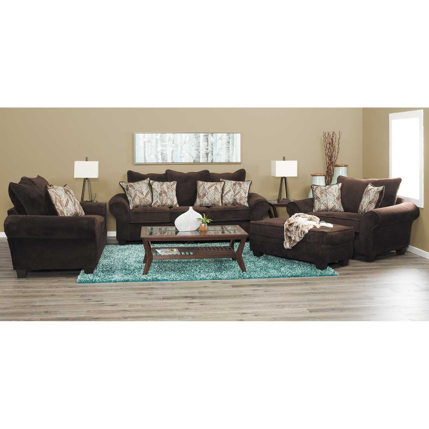 Picture of Artesia Chocolate Ottoman