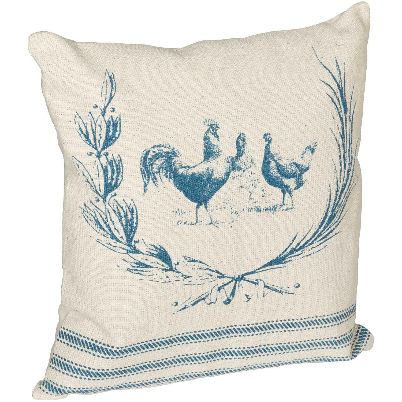 Picture of 20x20 Farmhouse Blue Decorative Pillow *P