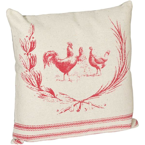 Picture of 20x20 Farmhouse Red Decorative Pillow *P