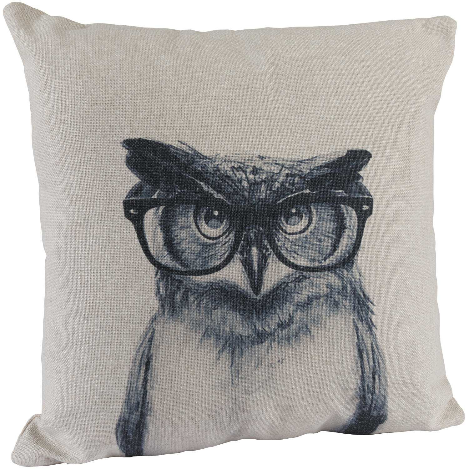 Picture of Studious Owl 18x18 Decorative Pillow