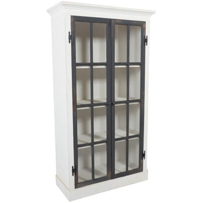 Picture of Two-Tone Glass Door Curio