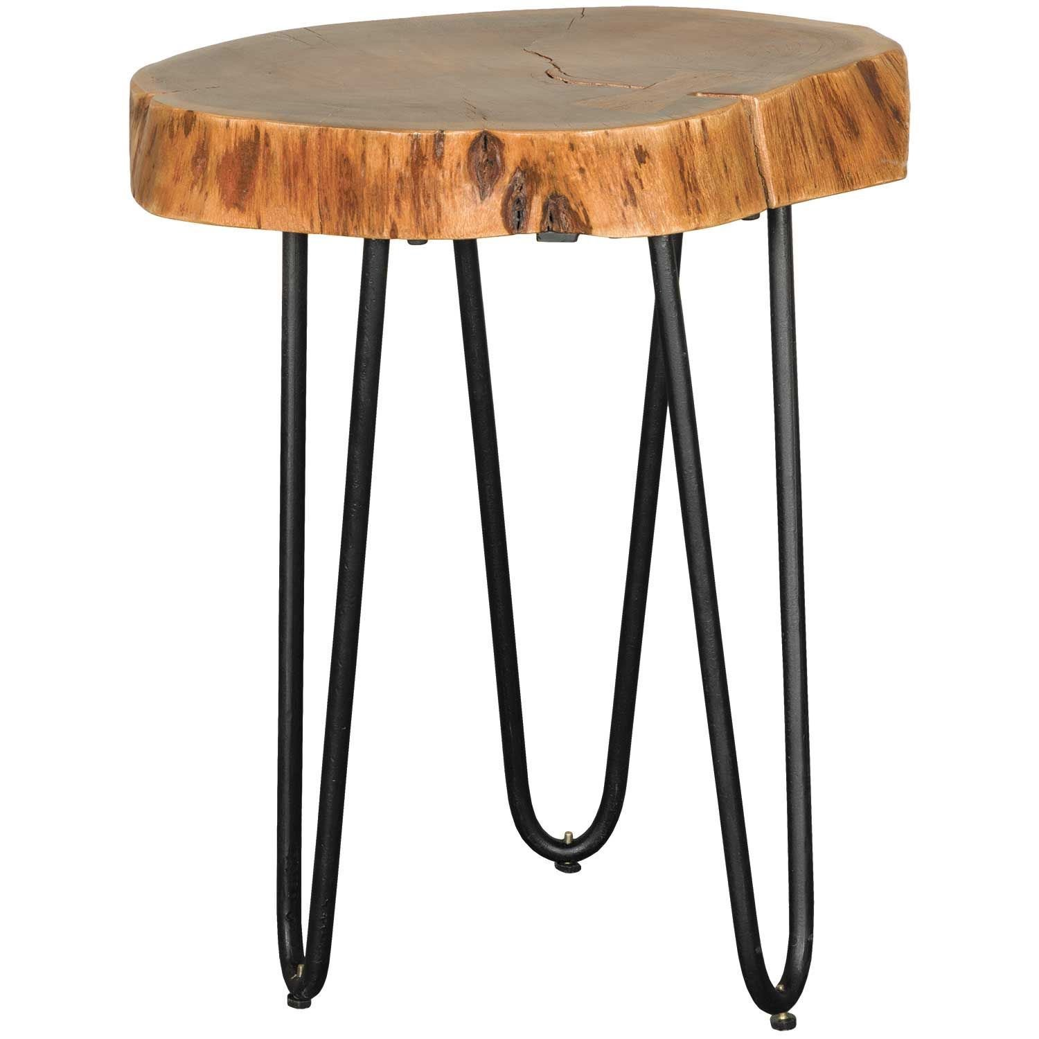 Vintage Iron Round Stump Side Table
