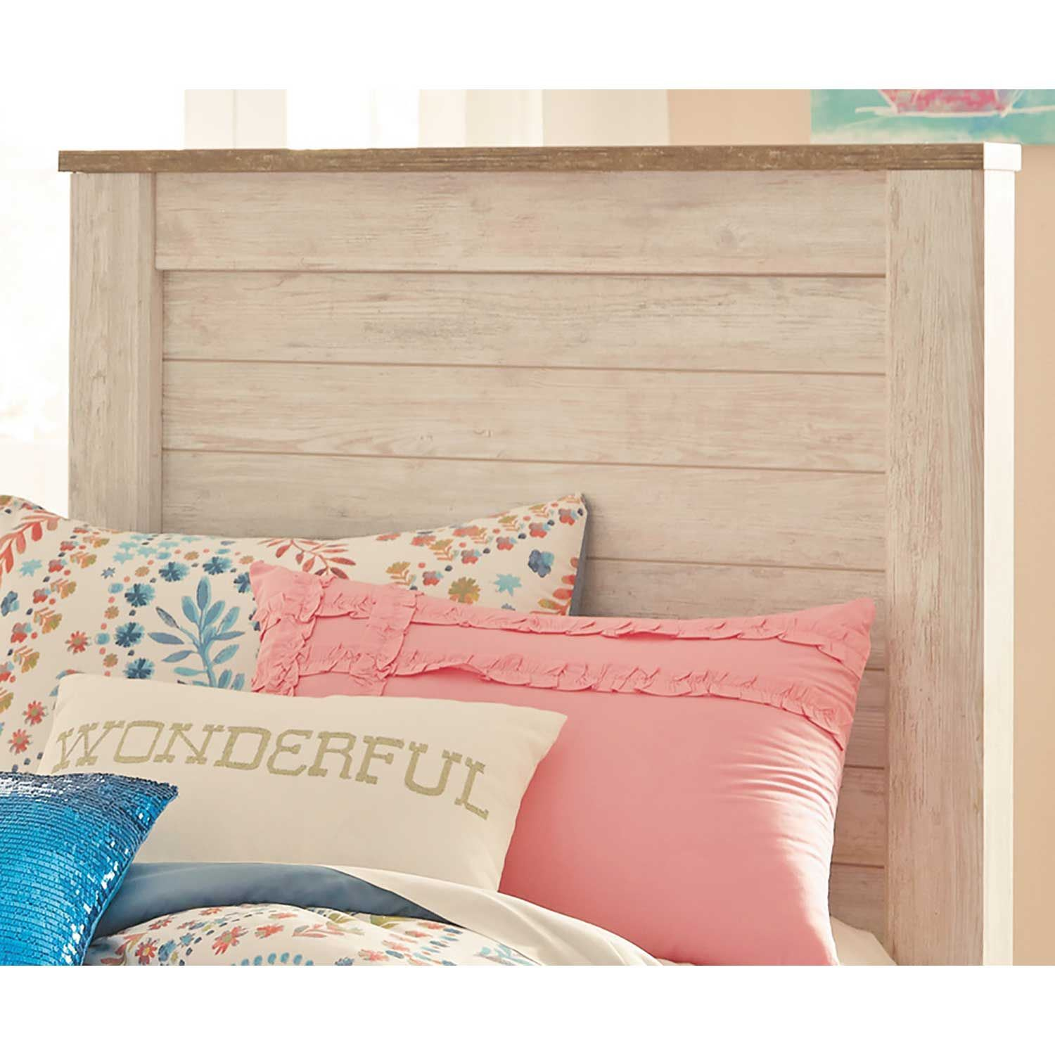 Superb Willowton Twin Panel Headboard Home Interior And Landscaping Ferensignezvosmurscom