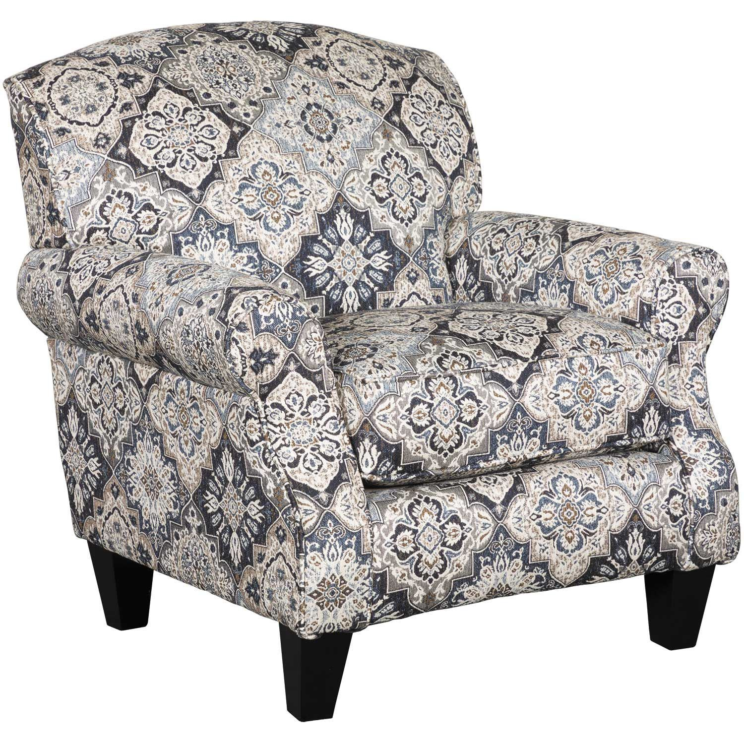 Whitaker Diamond Floral Accent Chair E 532ac Fusion Furniture