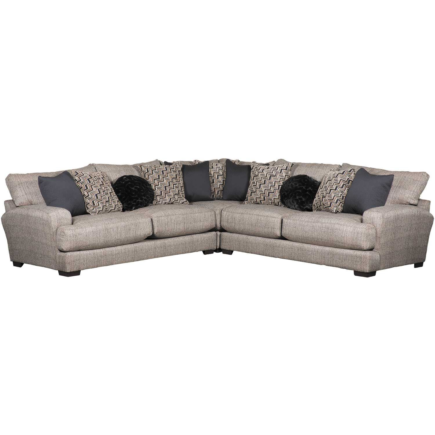Picture of Ava Pepper 3 Piece Sectional with USB Charging Ports