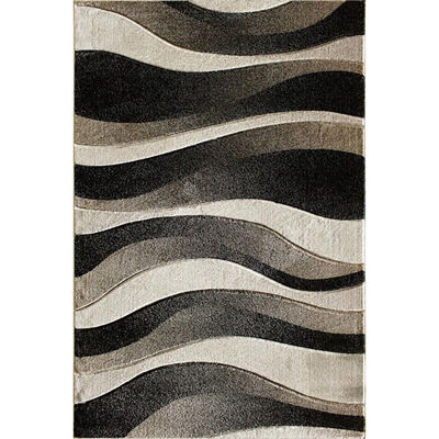Picture of Dows Black Waves 5x7 Rug