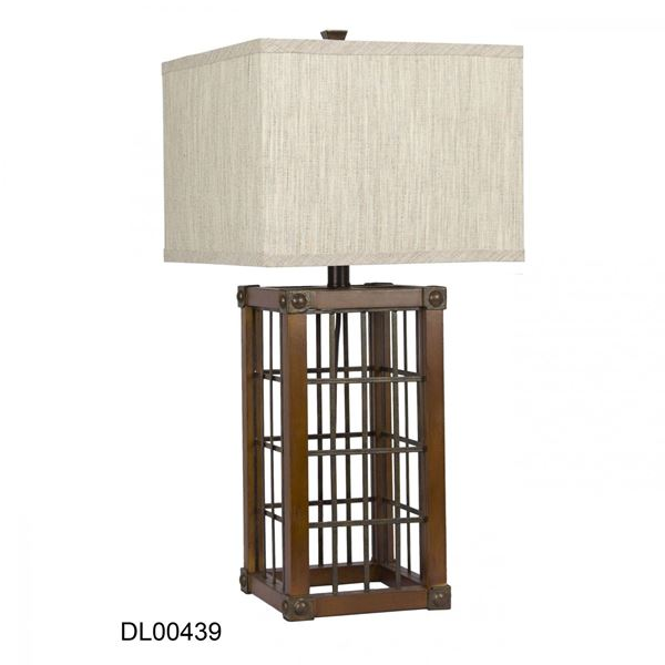 Picture of Industrial Square Table Lamp