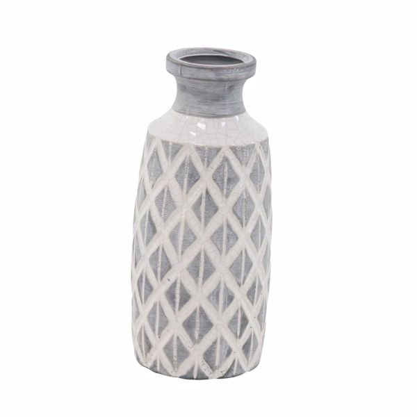 Picture of Grey Ivory Pattern Vase