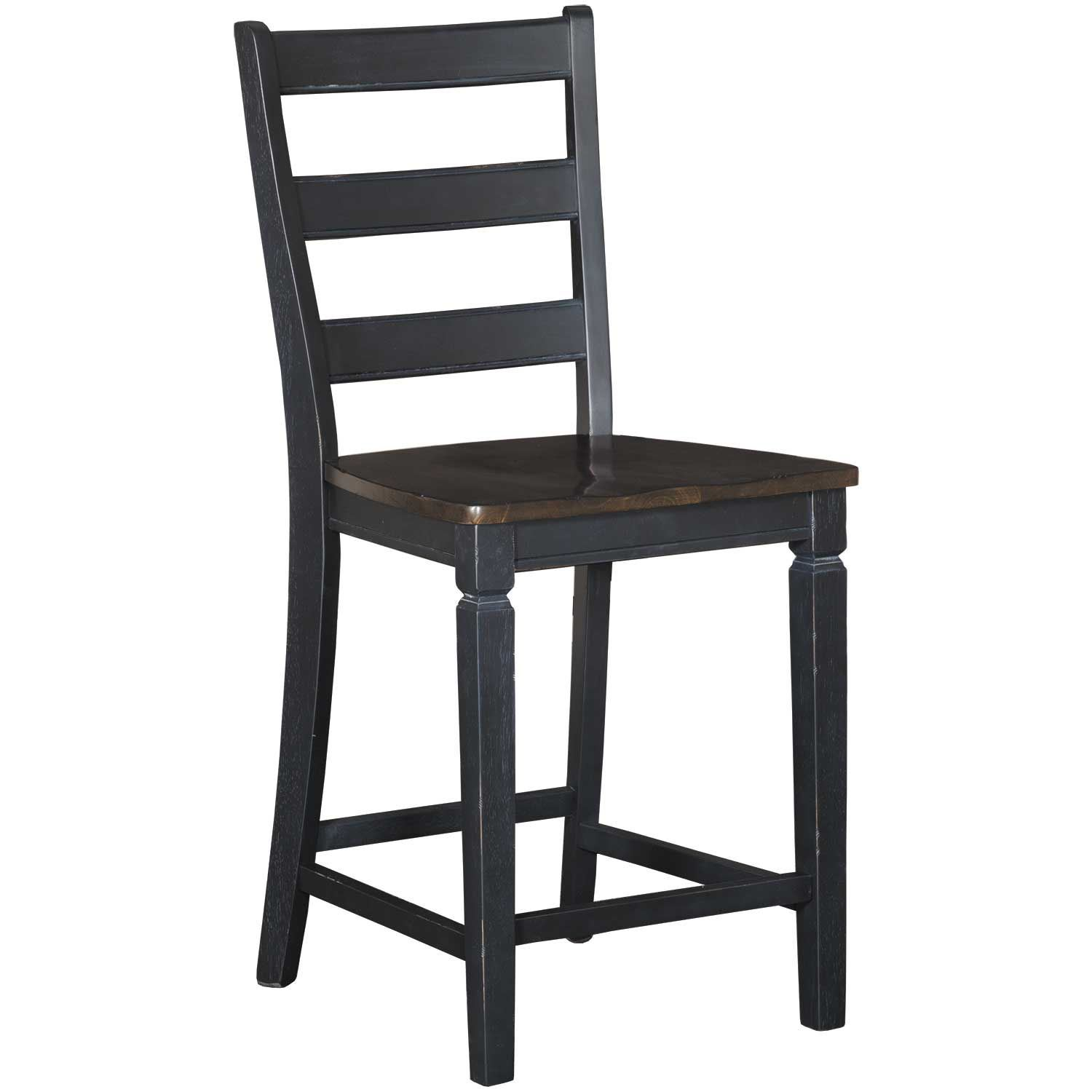 "Picture of Glennwood Two-Tone 24"" Barstool in Black/Charcoal"