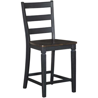 """Picture of Glennwood Two-Tone 24"""" Barstool in Black/Charcoal"""