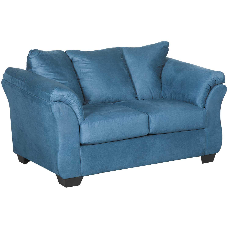 info for b7eaa 5d8f6 Darcy Dark Blue Loveseat | 7500735 | Ashley Furniture | AFW.com