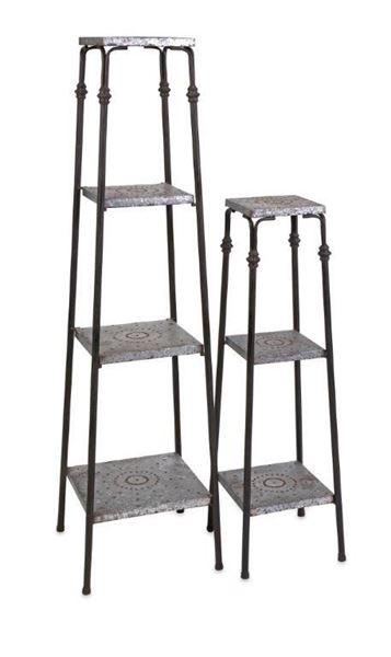 Picture of Set of Two Galvanized Shelves