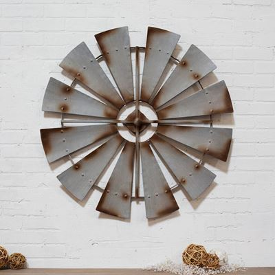 Picture of Metal Windmill Wall Decor