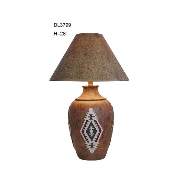 Picture of Red Medallion Southwest Table Lamp