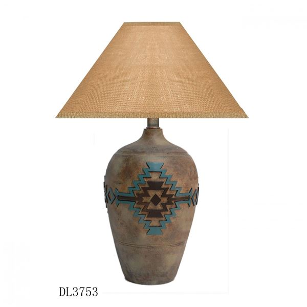 Picture of Teal/Chocolate Lodge Lamp