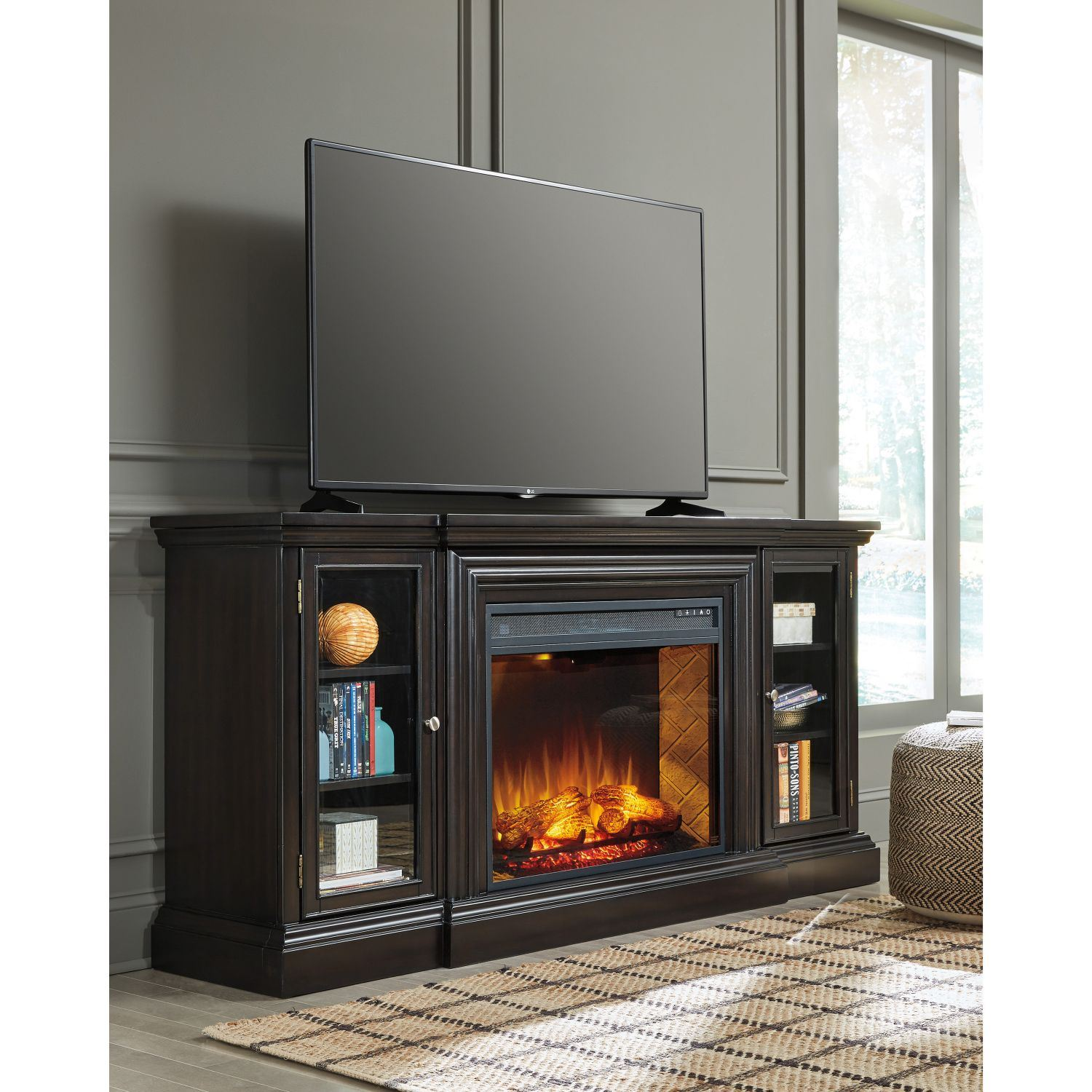 Carlyle Tv Stand With Fireplace W371 68 W100 121 Ashley