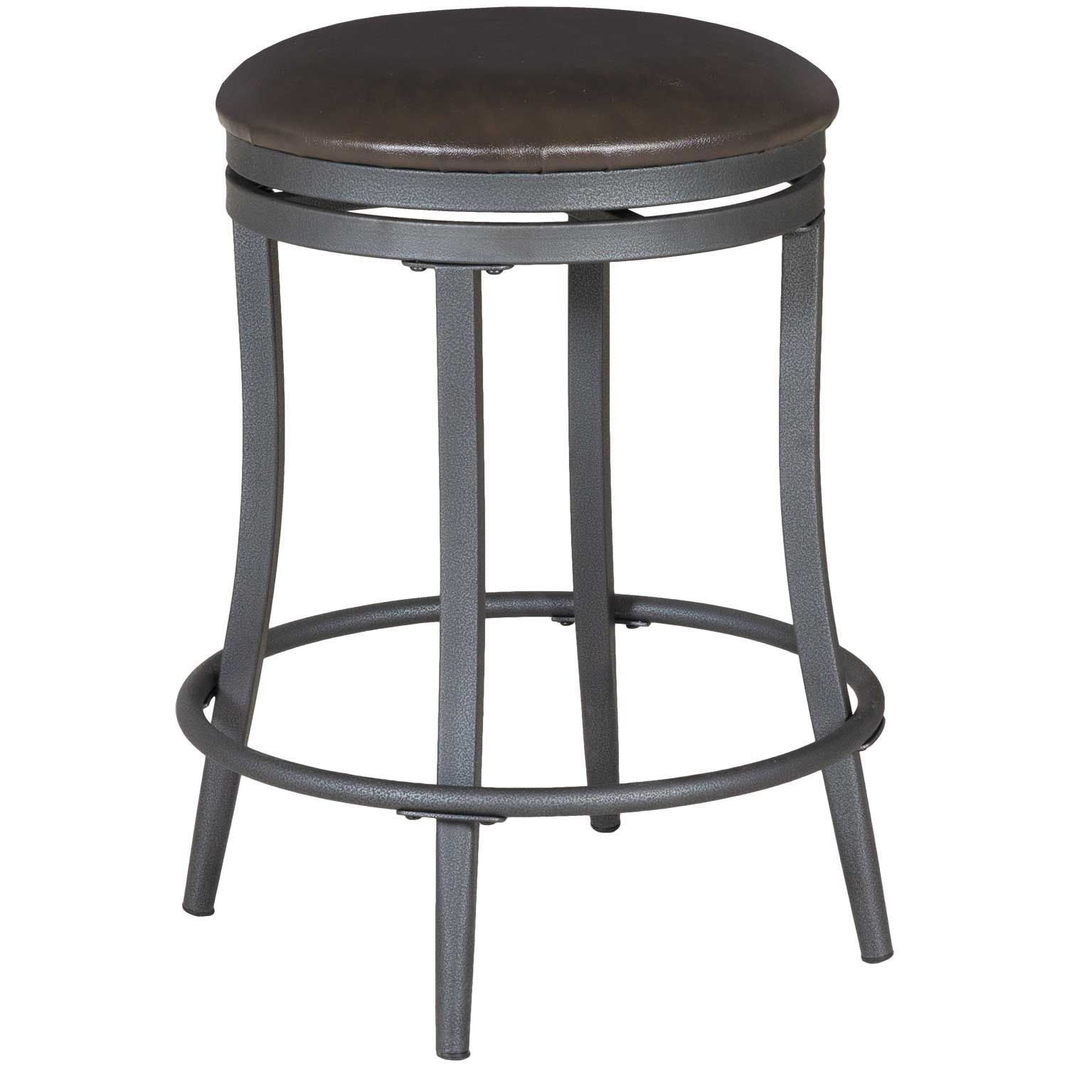 Backless Swivel 24 Barstool 2809s 24 Crown Mark Afw