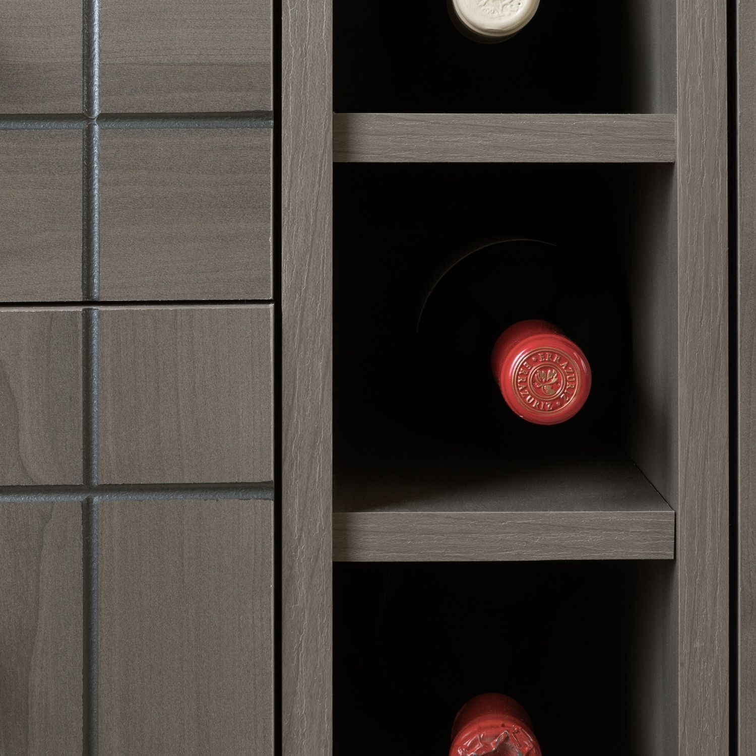Picture of Vietti Bar Cabinet with Bottle and Glass Storage