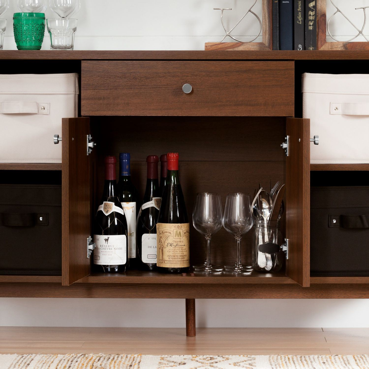 Picture of Olly Mid-Century modern Sideboard Storage Cabinet