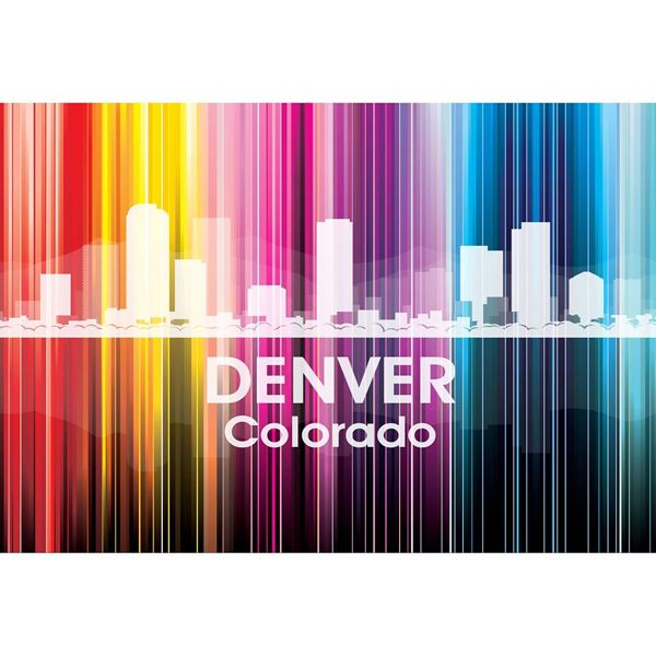 Denver Vertical Lined Rainbow 48x32