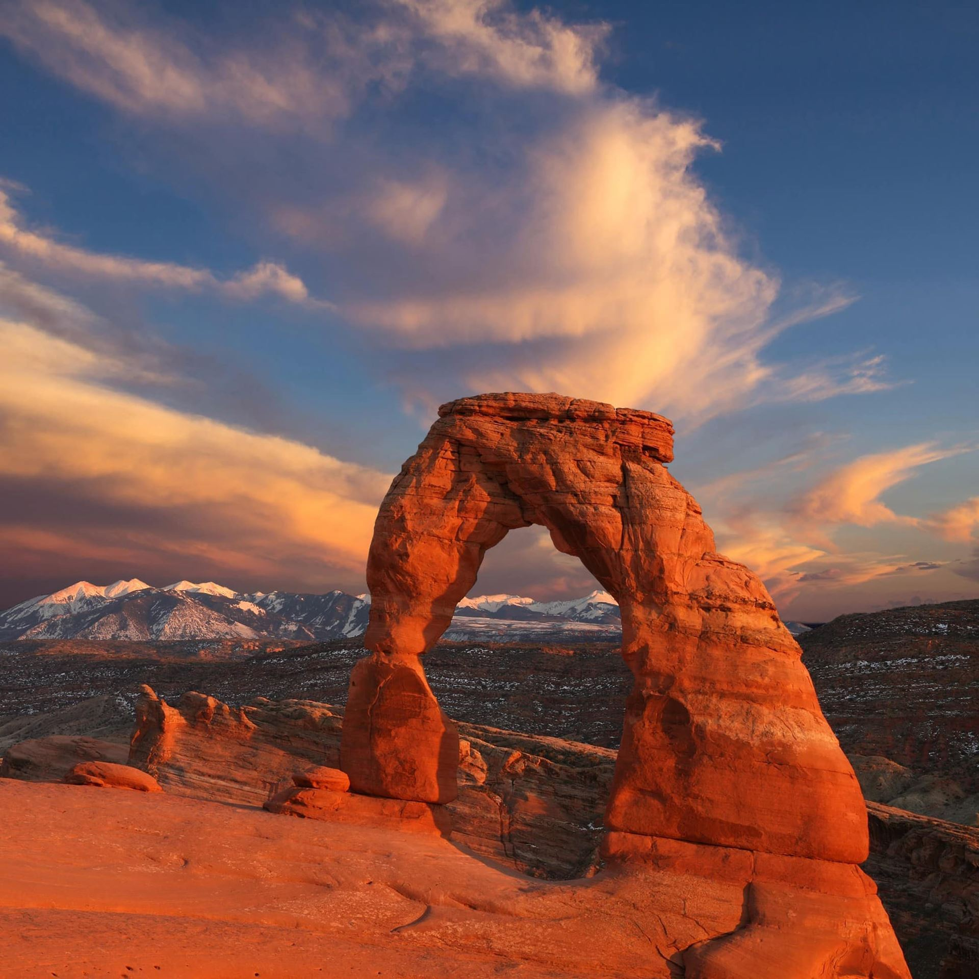 Delicate Arch at Sunset 36x36