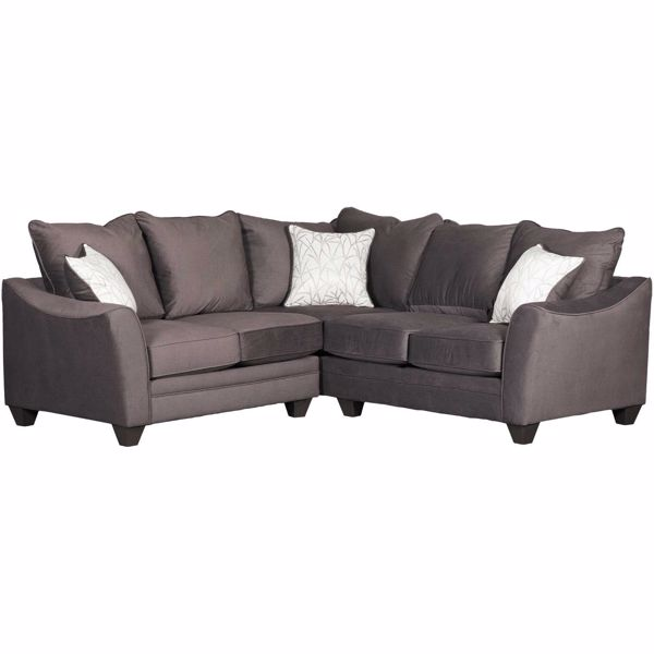 Picture of Flannel Seal 2 Piece Sectional with RAF Sofa