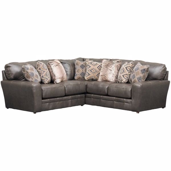 Picture of Denali 2 Piece Italian Leather Sectional with LAF Loveseat