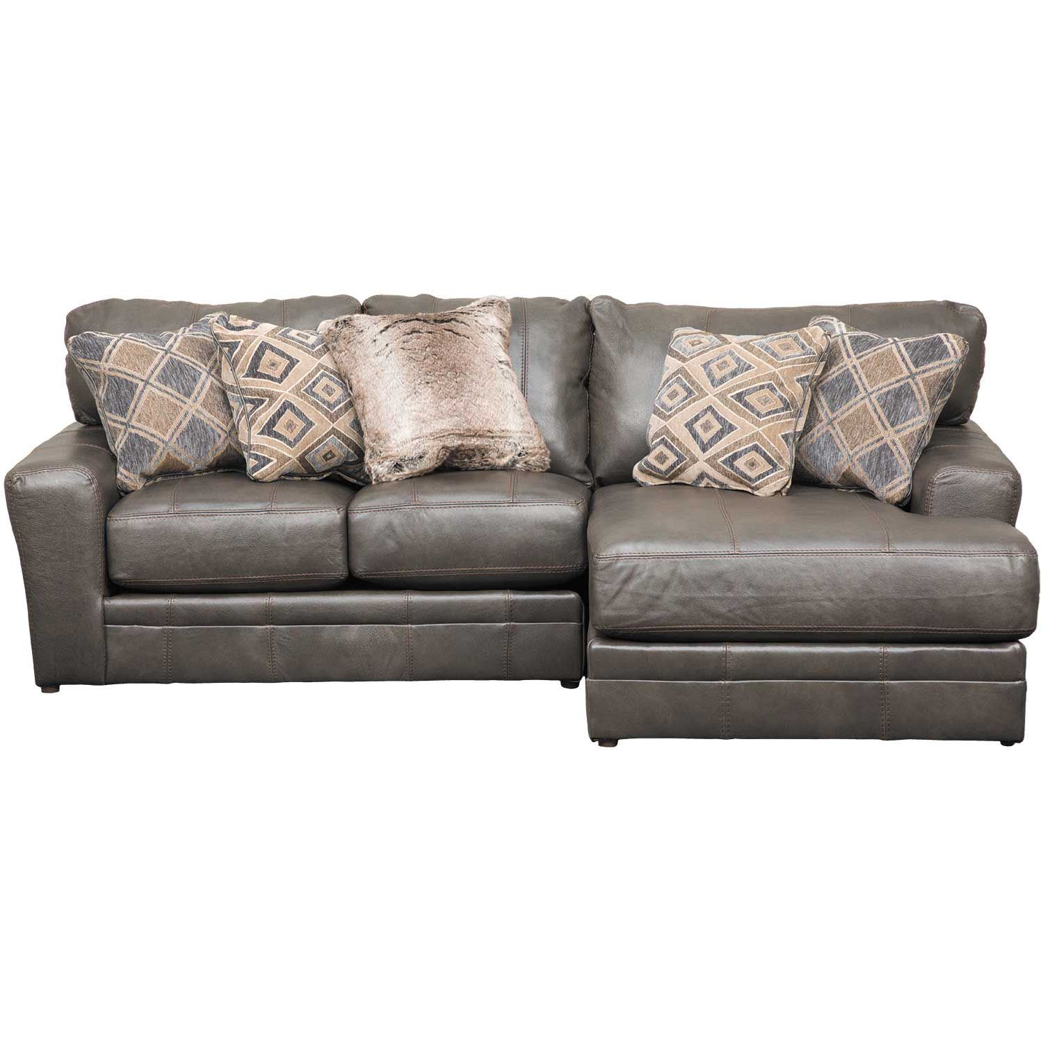 Denali 2 Piece Italian Leather Sectional with RAF Chaise