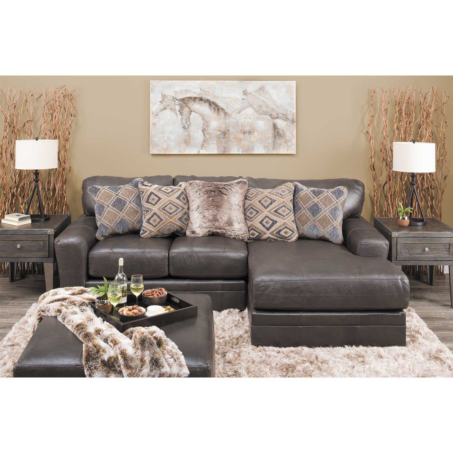 Denali 2 Piece Italian Leather Sectional With Laf Chaise 4378 75 42 Jackson Furniture
