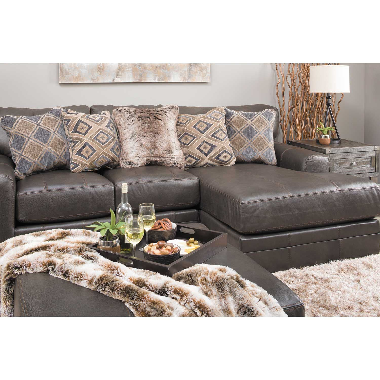 Picture of Denali 2 Piece Italian Leather Sectional with LAF Chaise