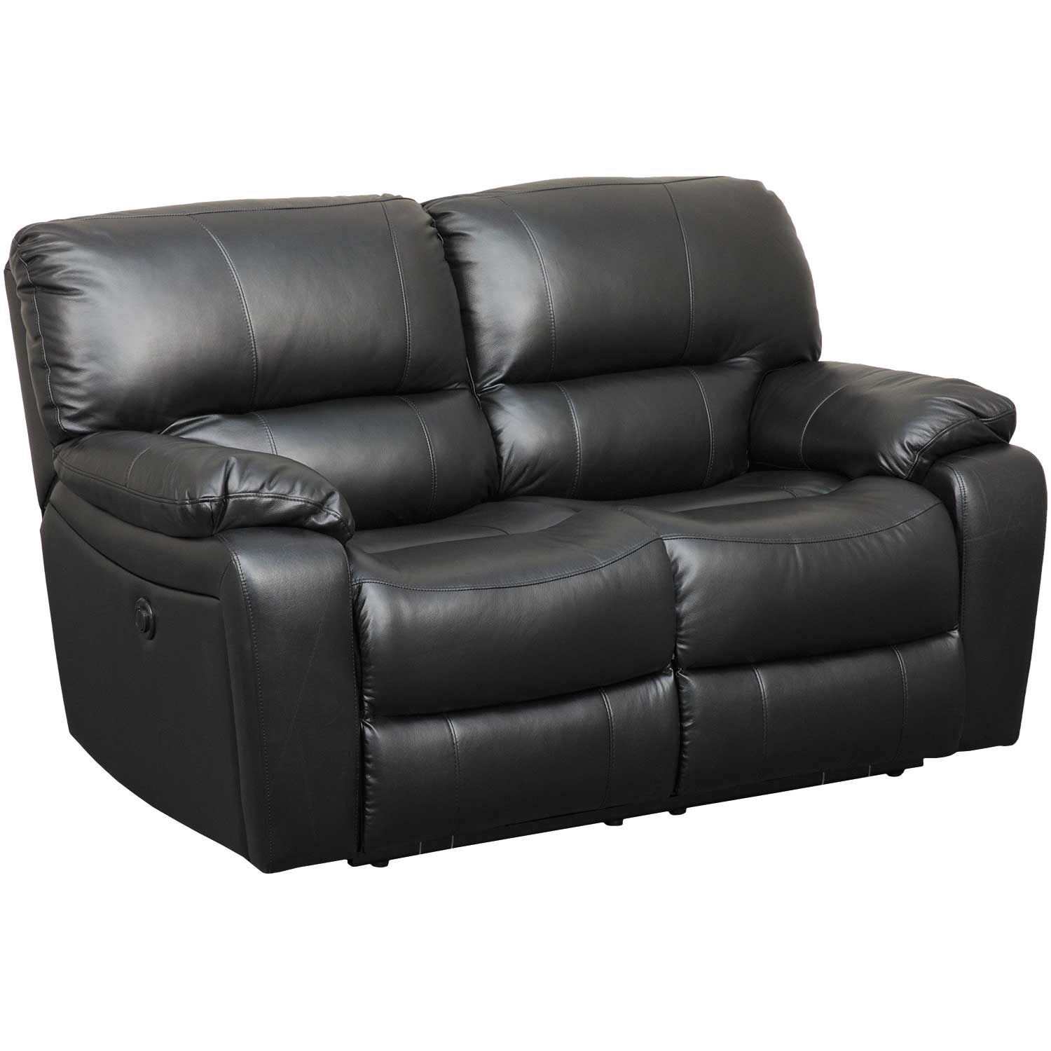 Phenomenal Wade Black Top Grain Power Reclining Loveseat Inzonedesignstudio Interior Chair Design Inzonedesignstudiocom