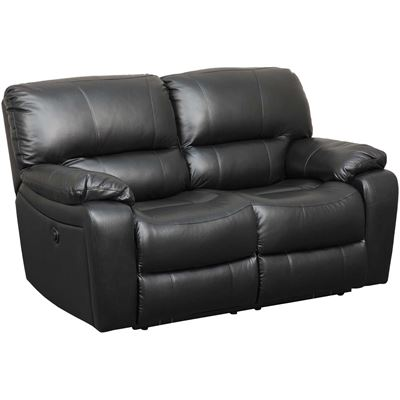 Picture of Wade Black Top Grain Power Reclining Loveseat