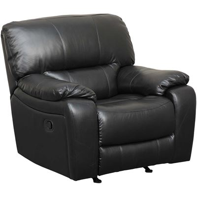 Picture of Wade Black Top Grain Leather Rocker Recliner