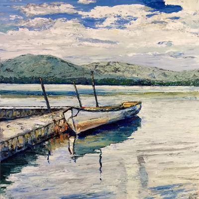 Calm Lake 36x36