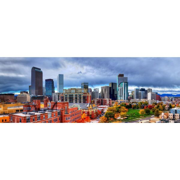 Denver Fall Skyline 60x20