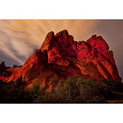 Garden of the Gods at Night 48x32