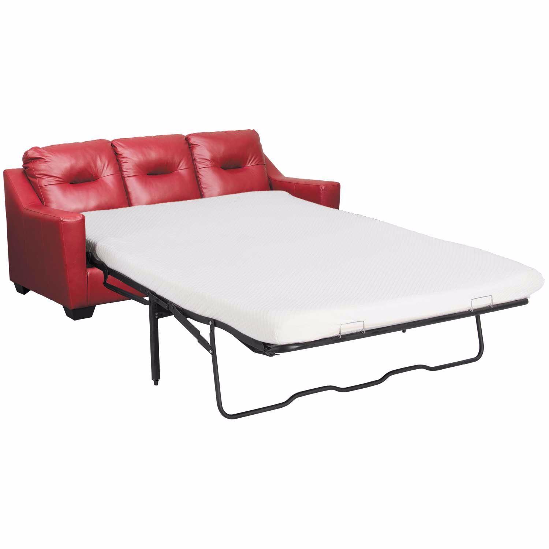 Kensbridge Crimson Leather Queen Sleeper Sofa 6390739