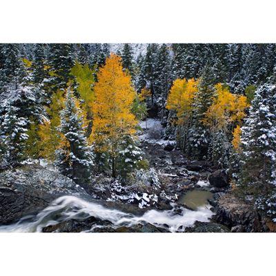 Autumn Waterfall 48x32