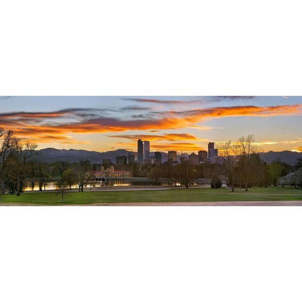 Denver Sunset 60x20