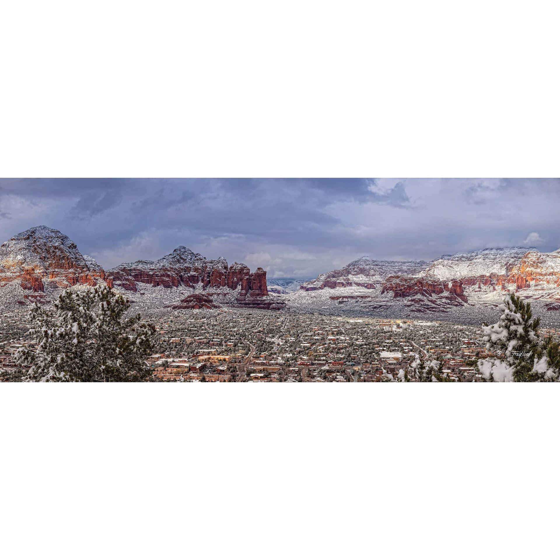 Sedona Arizona Snowstorm 60X20