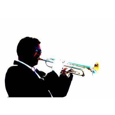 Trumpet Jazz Player 36x24