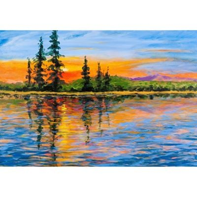 Out West at Sunset 36x24
