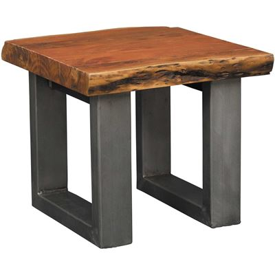 Live Edge Dining Table with Steel Base | AFW Exclusive Value